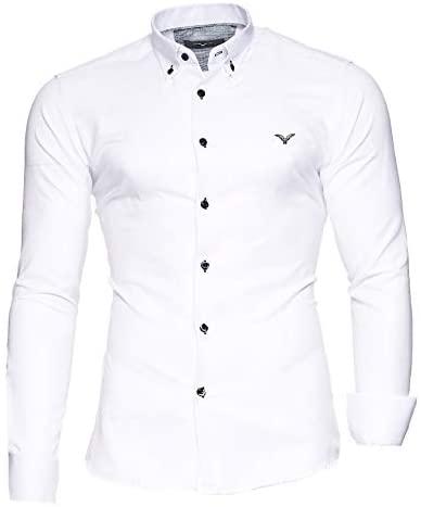 Kayhan Oxford Herren-Hemd Slim-Fit Langarm-Hemden S-6XL