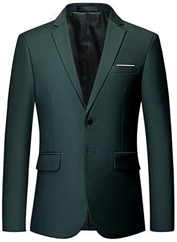 YOUTHUP Herren Anzugjacke Slim fit einfarbig Modern Sakko für Hochzeit Party Abschluss Business