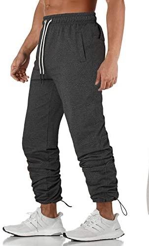 AIDEAONE Jogginghose Herren Trainingshose Slim Fit Sporthose mit Reissverschluss Taschen Joggers Streetwear